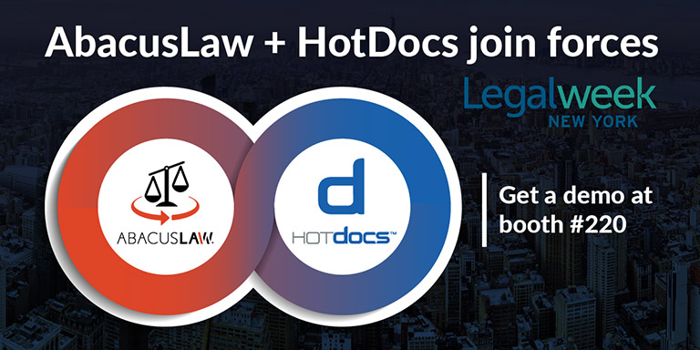 AbacusNext to Preview AbacusLaw and HotDocs Integration at Legalweek New York