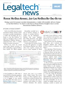 legaltech HotDocs Advance Review February 2021