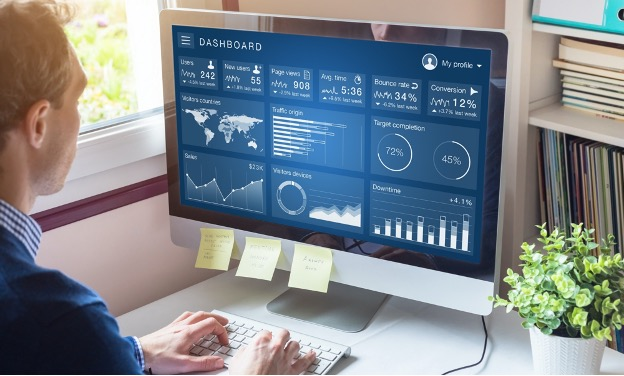 dashboard of data analytics for lawyers