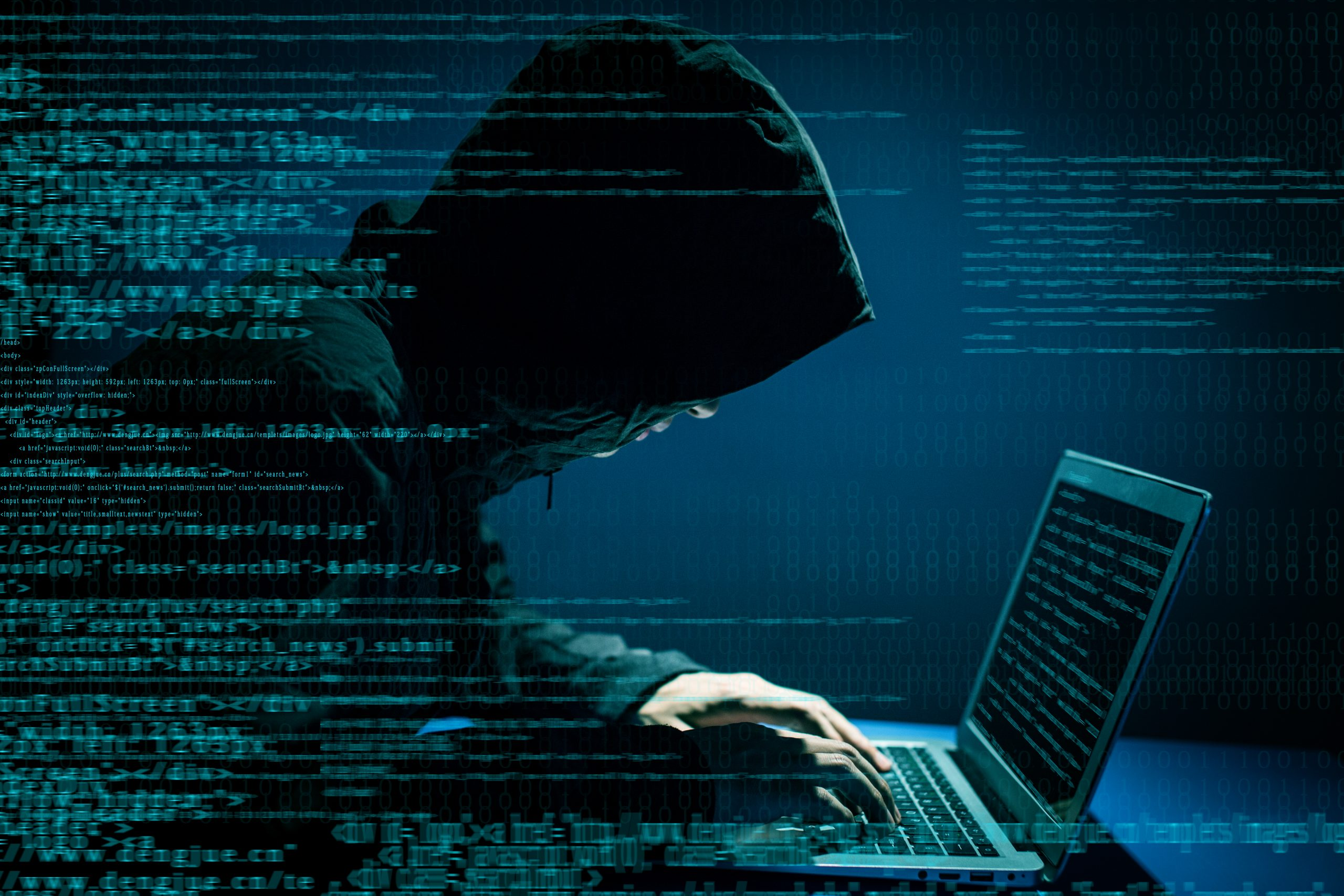 Hacker attacking law firm
